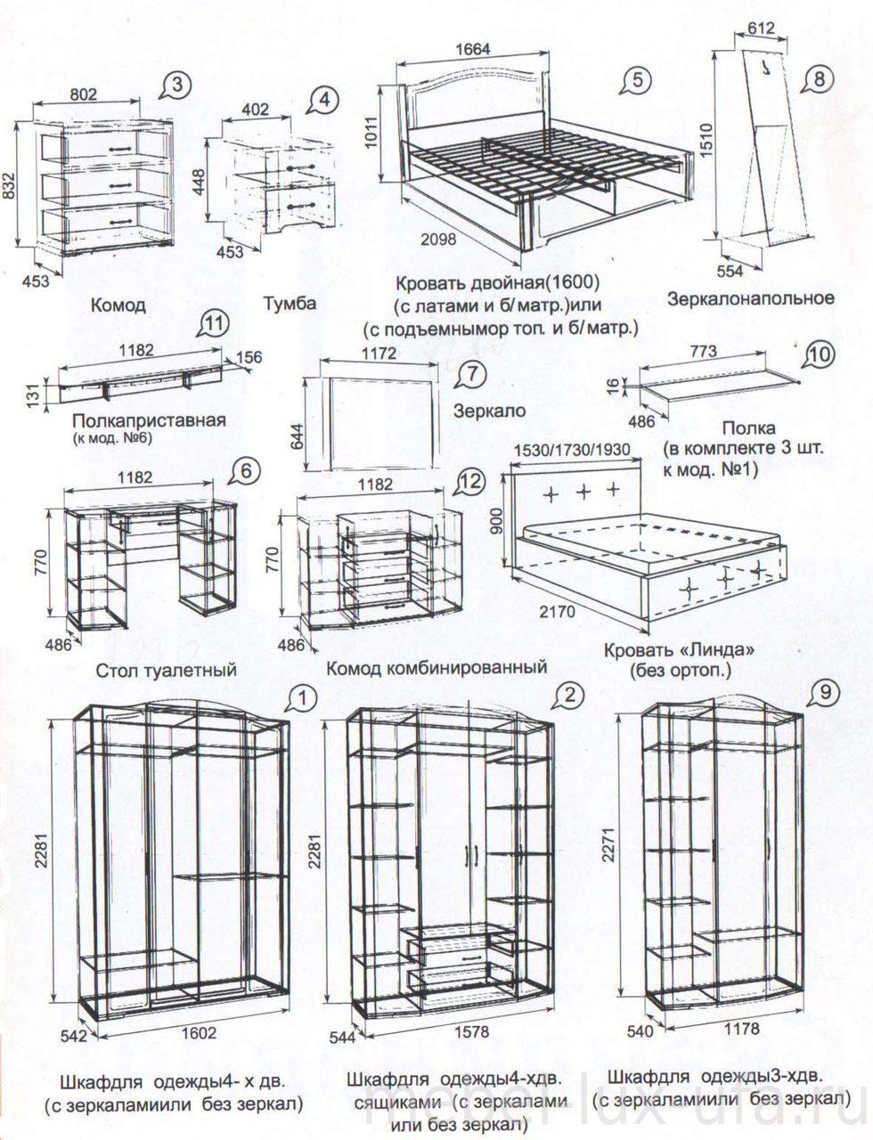 схема сбора кровать комбинированная фруттис