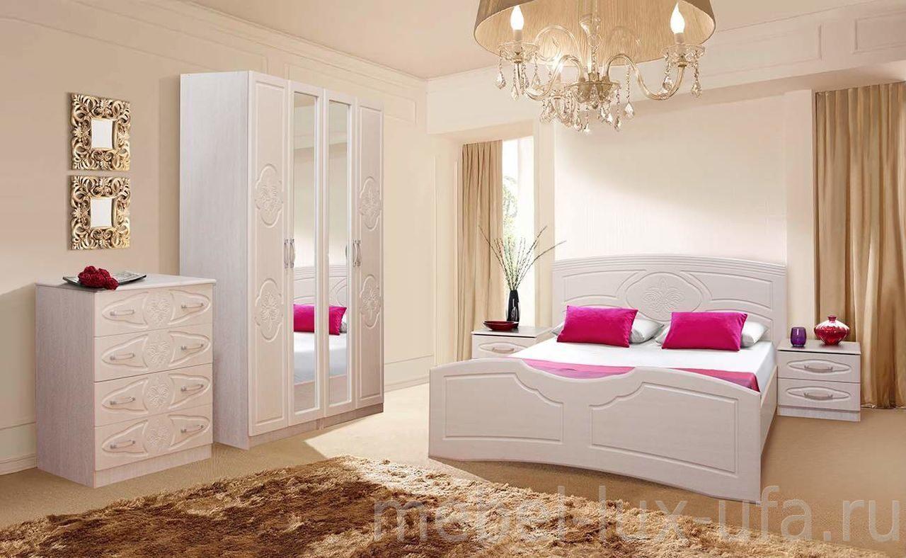 купить спальный гарнитур лилия в интернет магазине мебель люкс уфа